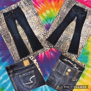 AMERICAN EAGLE NWOT FLARE JEANS SIZE 00